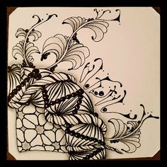 This week's doodles. Joey's weekly tangle challenge 201