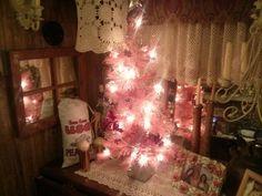 pink rv christmas tree