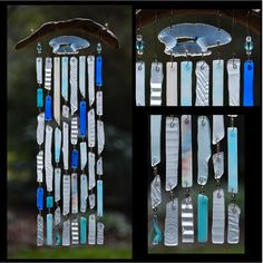 Recycled Beach Glass Inspired Wind Chimes - Cloud's Illusions