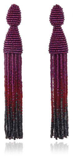 Oscar de la Renta Ombré Tassel Earrings