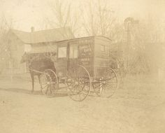 Photograph of Rural Free Delivery wagon with horse in Osseo, Minnesota by Smithsonian Institution, via Flickr