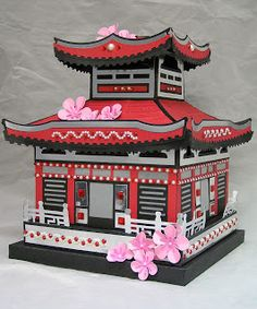 pagoda to buy svgcuts spring blossom kit 3D DIY