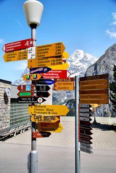 Murren, Switzerland Signs