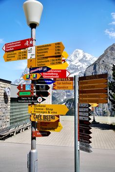 Murren, Switzerland Signs