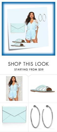 """""""Baby Blue"""" by chauert ❤ liked on Polyvore featuring Post-It, Nasty Gal, Lucky Brand, Rebecca Minkoff and Jennifer Fisher"""