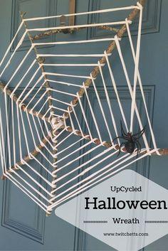 UpCycled Halloween Wreath: