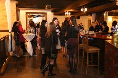 Guests networking at the bar area! #Networking #Event #WomensNetwork