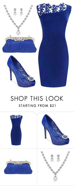 """Simple Blue"" by boglarka-voros ❤ liked on Polyvore featuring GUESS and Bling Jewelry"