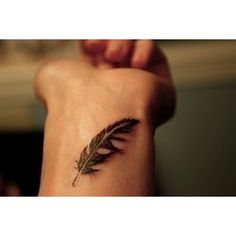 Says its a leaf. I see a feather.