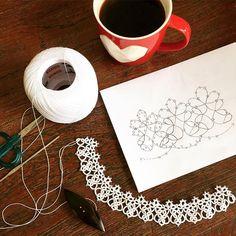 งานฝีมือ วันฝนพรำ  #แท๊ตติ้ง #กระจุ๊กกระจิ๊ก #tatting #GajukGajik #handmade #handcraft #hobby