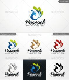 Peacock - Logo Template by Indigober Peacock �20Logo Template Simple and memorable logo template Vector EPS AI Illustrator Color customizable Resizable Easy to use CMYK