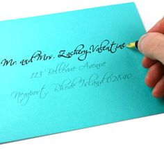 How To: Perfectly Hand-Addressed Envelopes | Blue Dot Paper Shop - Blog
