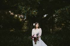 LOUISE + NICK // #wedding #ceremony #reception #thegrounds #sydney #photographer #bride #bridal #flower #flowers #bouquet #lace #dress #gown #sleeves