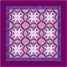 Quilt Art Designs Night Lily Quilt quiltartdesigns.blogspot.com