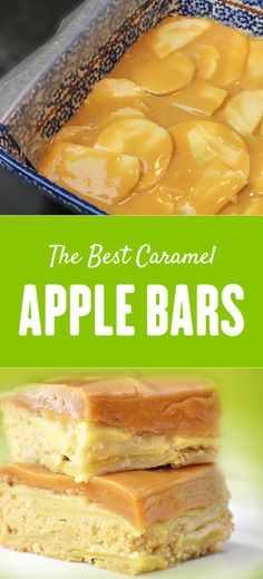 Don't tell Grandma that you found a better recipe for apple bars! You're going to love these apple bars layered with fresh apple slices and topped with a thick layer of caramel. YUM!!!