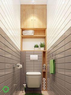 Space Saving Toilet Design for Small Bathroom. Modern Bathroom Designs For Small Spaces Small Toilet Design, Small Toilet Room, Bathroom Design Small, Bathroom Interior Design, Very Small Bathroom, Beautiful Small Bathrooms, Tiny Bathrooms, Master Bathrooms, Bad Inspiration