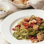 Basil-Walnut Pesto with Mushroom, Jalapeno & ...