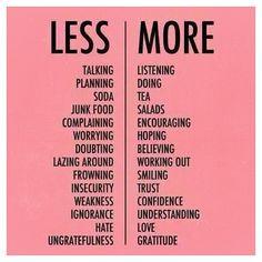 . pensées du mardi #résolutions #lessismore