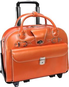 McKlein USA Roseville - Fly-Through Checkpoint-Friendly Removable Rolling Ladies' Laptop Case Orange - via eBags.com!