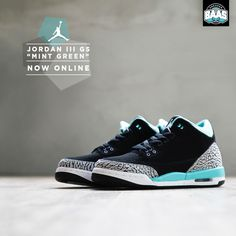 "Jordan III GS ""Mint Green"" 