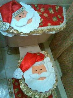 moldes para juegos de baño navideños - Buscar con Google Decor Crafts, Diy And Crafts, Christmas Crafts, Christmas Ideas, Little Christmas, Christmas Home, Christmas Bathroom Sets, Baby Shawer, Christmas Scenes