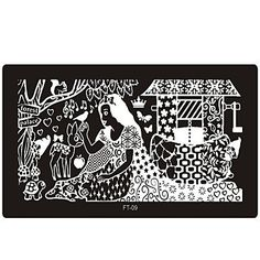 QINF Nail Art Stamp Stamping Image Template Plate FT Series NO.9 *** For more information, visit image link.