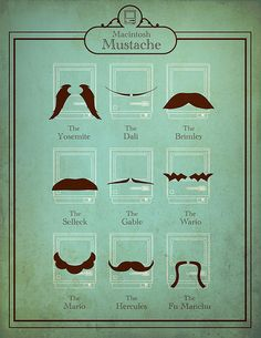 Macintosh Mustache which one do you want/have/or need