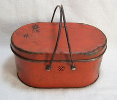 Early Tin Lunch Box I have this without the lid.Did not know it was a lunch box.