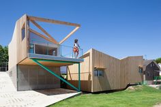 prefab home with creative design