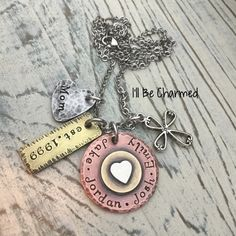 Summer Sale Hand Stamped - Personalized Jewelry - Family -Mother's Gift - Copper Jewelry - Mom Jewelry - Grandma Gift - Gifts for Her - Fami