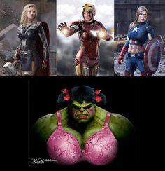 Female Avengers - Imgur /bahahaha... the Hulk kills me!