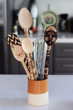 #DIY Wood Burned Spoons