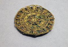 Ornament   Period: Han (206 B.C.–A.D 220) or Six Dynasties (220–589) Culture: China Medium: Gold and semiprecious stone
