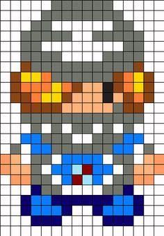 Skeik Legend of Zelda Ocarina of Time Perler Bead Pattern