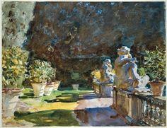 "John Singer Sargent ""Villa di Marlia, Lucca."" Museum of Fine Arts, Boston."