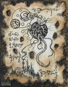 Cthulhu LARP from Beyond Necronomicon Lovecraft Monster Demons Grimoire Dark Art… Larp, Hp Lovecraft, Arte Horror, Horror Art, Necronomicon Lovecraft, Yog Sothoth, Eldritch Horror, Lovecraftian Horror, Occult Art