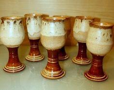 Wine Goblets by KAEIRACERAMICS on Etsy