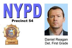 blue bloods danny reagan | BLUE BLOODS ID Card