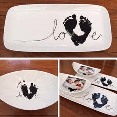 The cutest footprint family art ideas - The cutest footprint family art ideas Informations About Die süßesten Abdruck-Familien-Kunst-Ideen - Mothers Day Crafts, Valentine Day Crafts, Christmas Crafts, Valentines, Baby Hand And Foot Prints, Baby Prints, Diy Crafts For Kids, Arts And Crafts, Art Crafts