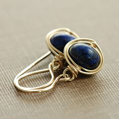 gold and navy earrings