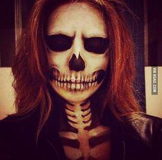 Awesome skeleton makeup