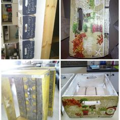 Upcyled Double O Drinks Wooden Boxes Serviette Decoupaged.. Instagram:  shabby rococo Rococo, Wooden Boxes, Decoupage, Shabby, Drinks, Instagram, Rage, Wood Boxes, Drinking