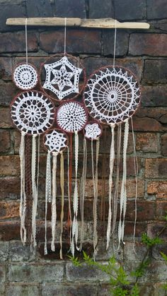 All my dreamcatchers are handmade and crocheted with care and love! Check out my etsy shop! :)