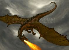 Flying dragon by BrokenMachine86