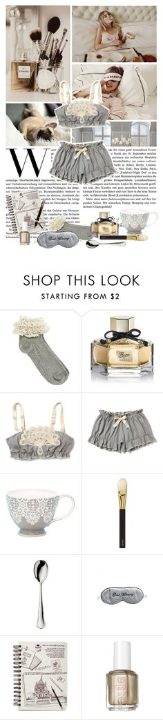 """Good Morning, Lovely."" by missmelodies ❤ liked on Polyvore featuring Wildfox, Oasis, Gucci, Anthropologie, GreenGate, Tom Ford, Robbe & Berking, Mary Green, Essie and Montblanc"