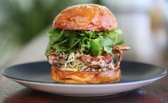 soft shell crab burger, sriracha mayo