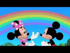 Welcome to Mickey and Minnie's Clubhouse! Today there is a Clubhouse rainbow outside! Learn the rainbow song with Mickey and Minnie, can you name all the col. Minnie Y Mickey Mouse, Disney Mickey Mouse Clubhouse, Disney Junior, Rainbow Songs, Dancing Daisy, Youtube Red, Color Songs, Mickey Mouse Wallpaper, Teaching Colors