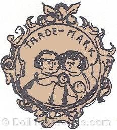 Carl Geyer doll mark symbol of children in fancy cartouche Doll Maker, Antique Dolls, Makers Mark, Decorative Plates, German, Symbols, Fancy, Antiques, Image
