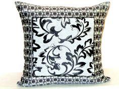 Geometric leaf throw pillow sham  20x20 pillow cover  by SABDECO
