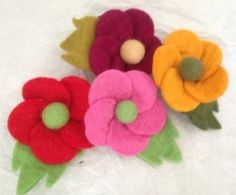Hand made Large Felt Rose Flower Brooch - Fair Trade - Set of 4 .. 2015 - 2016 http://profotolib.com/picture.php?/41180/category/1702